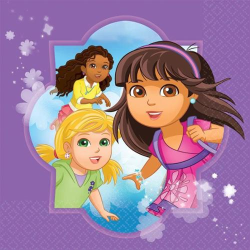 Dora and Friends Luncheon Napkins (16 Pack) - Party Supplies