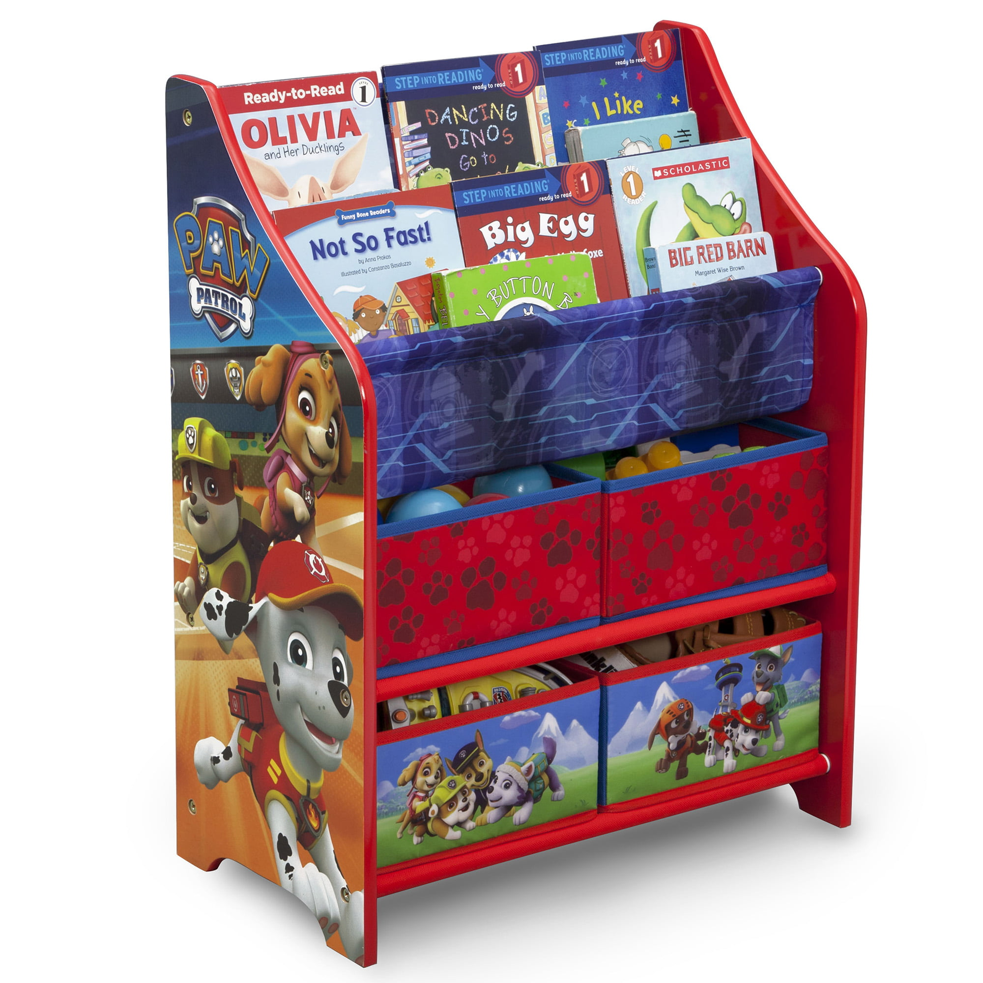 Paw Patrol Toy Organizer Bin Cubby Kids Child Storage Box: Nick Jr. PAW Patrol Book And Toy Organizer By Delta