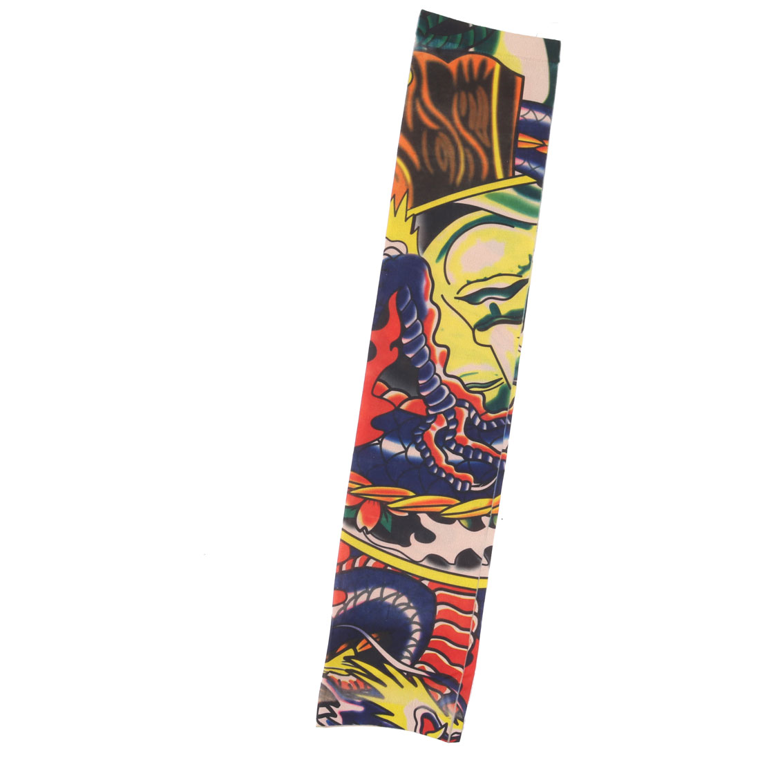 Unique Bargains Outdoor Nylon Cow Pattern Elastic Stretch Sport Arm Protector Sleeve Oversleeve - image 4 of 4
