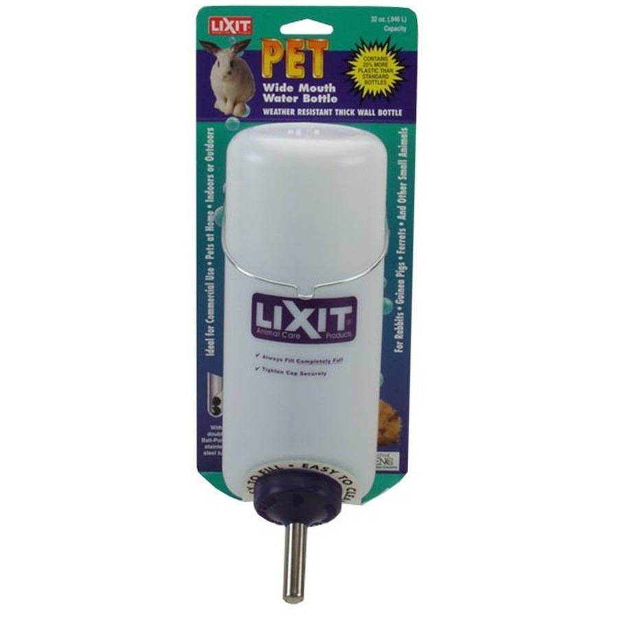 Lixit Pet Wide Mouth Water Bottle, 32 oz