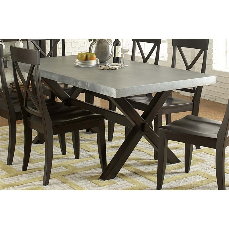 Liberty Furniture Keaton II Trestle Dining Table in Charcoal