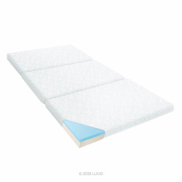 Lucid 3 Inch Folding Gel Memory Foam