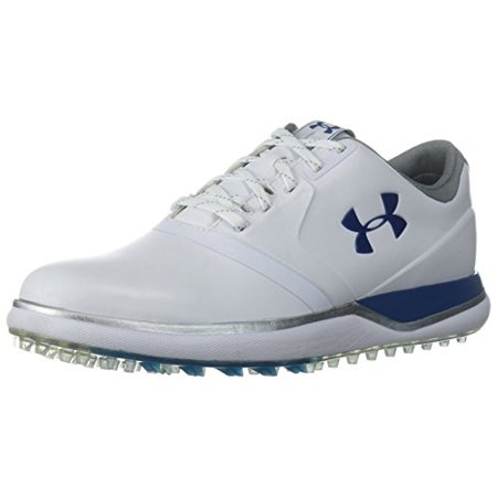 Adidas Ladies Golf Shoes (Under Armour Women's Performance Spikeless Golf Shoe, White (101)/Moroccan Blue, 10)