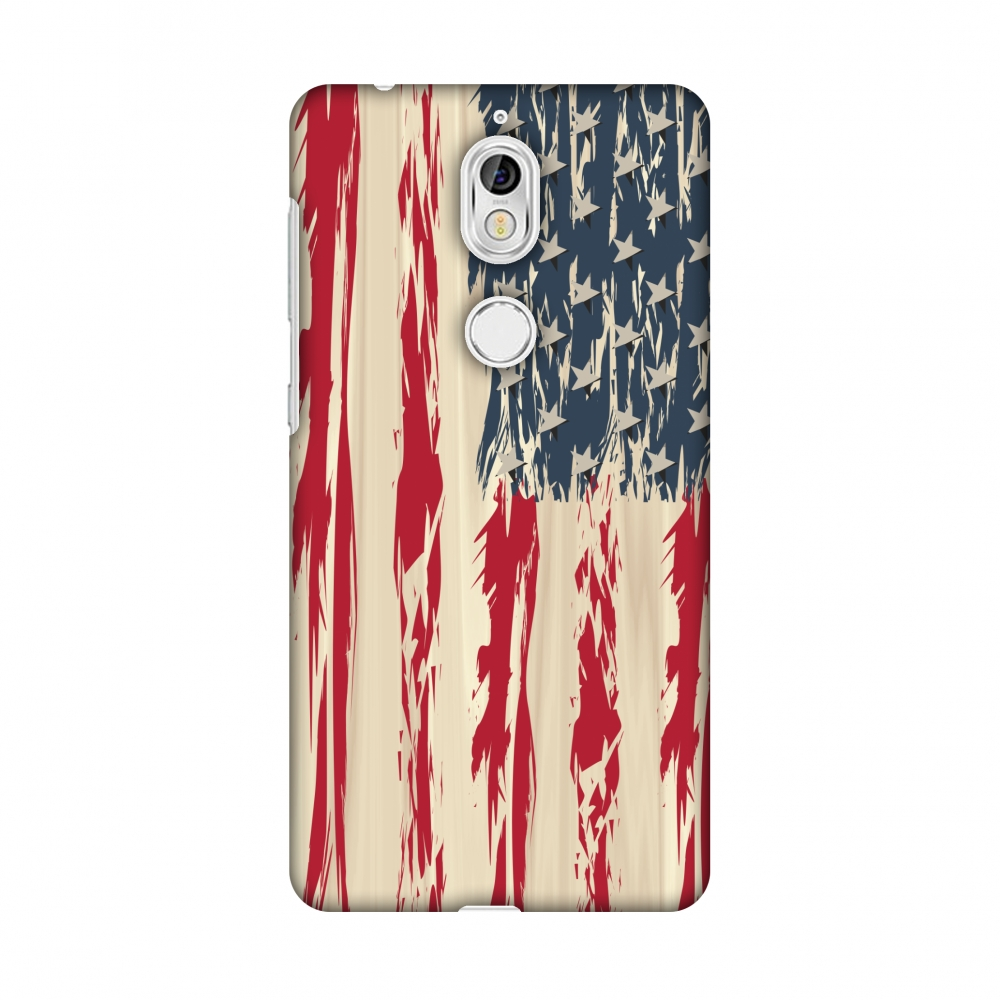 Nokia 7 Case - USA flag- Paint splashes, Hard Plastic Back Cover, Slim Profile Cute Printed Designer Snap on Case with Screen Cleaning Kit