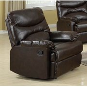 Bonded Leather Chair in Brown