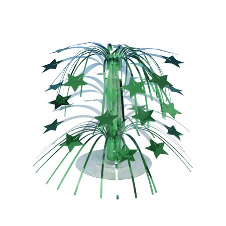 Club Pack of 12 Mini Green Stars Cascading Centerpiece Party Decorations 8.5