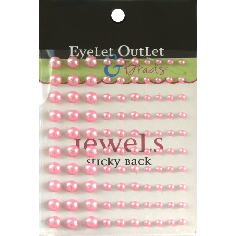 Bling Self-Adhesive Pearls Multi-Size 100/Pkg-Pink