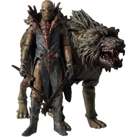 The Hobbit Orc Fimbul on Warg Action Figure Set (Orcs In The Lord Of The Rings)
