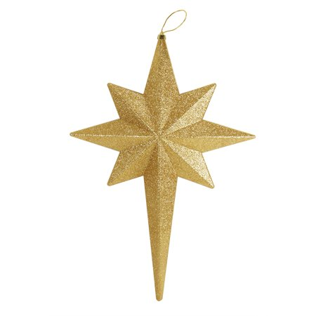 "20"" Vegas Gold Glittered Bethlehem Star Shatterproof Christmas Ornament"