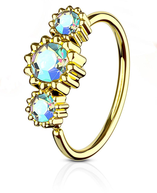 "1 Single Dangle Belly Ring 14g 3//8/"" Gem Fancy Pave Ribbon Gemstone CZ Navel 819"