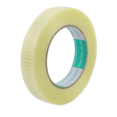 - 20mm Height 50M Length Long Adhesive Insulating Grid Glass Fiber Tape Roll