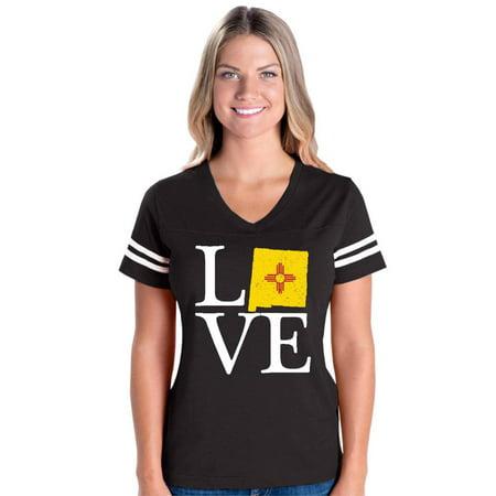 Love New Mexico Womens V-Neck Fine Jersey Tee