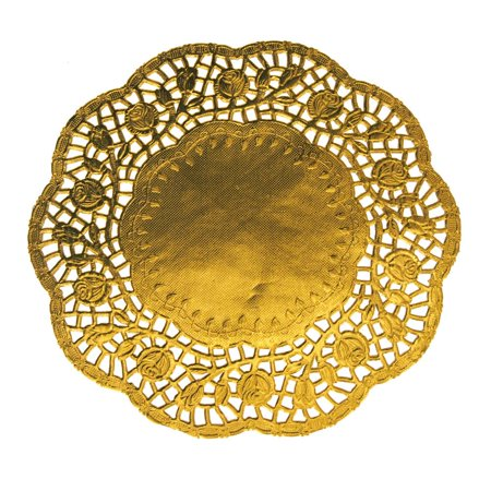 Round Lace Gold Doilies, 8-1/2-Inch, 6-Piece - Gold Doilies