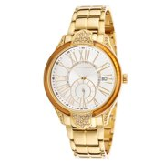 A0541pbrxsm Women's Crystal Gold-Tone Stainless Steel White Dial Watch