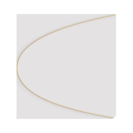 14k Yellow Gold .6 mm Carded Cable Rope Chain - image 3 of 6