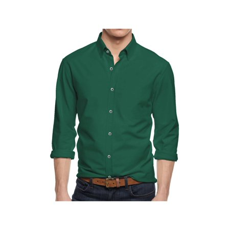9f205de6be0 Alta - Men s Long Sleeve Button Down Cotton Slim Fit Pointed Collar ...