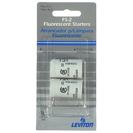 Leviton 12411 FS-12 32W Fluorescent Lamp Starter With Condenser- Pack of 2 ()