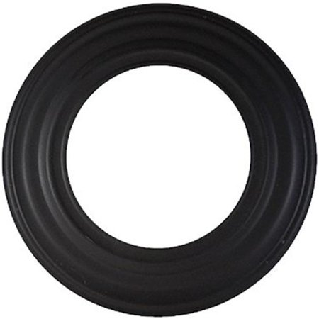 Dura Black 24ga Pipe (Gray Metal 6-605 6 in., 24 Gauge Black Stove Pipe Collar )