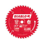 Diablo 7-1/4 in. Dia. x 5/8 in. Carbide Tip Steel Circular Saw Blade 40 teeth