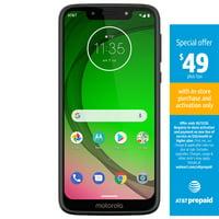 AT&T PREPAID Motorola moto g7 Play 32GB Prepaid Smartphone, Deep Indigo
