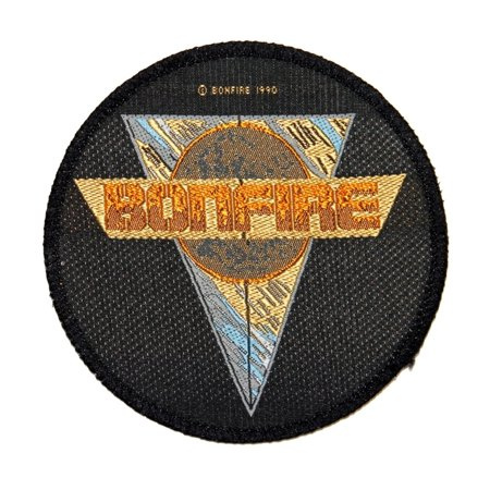 Bonfire Band Name & Point Blank Logo German Metal Music Sew On Applique Patch ()