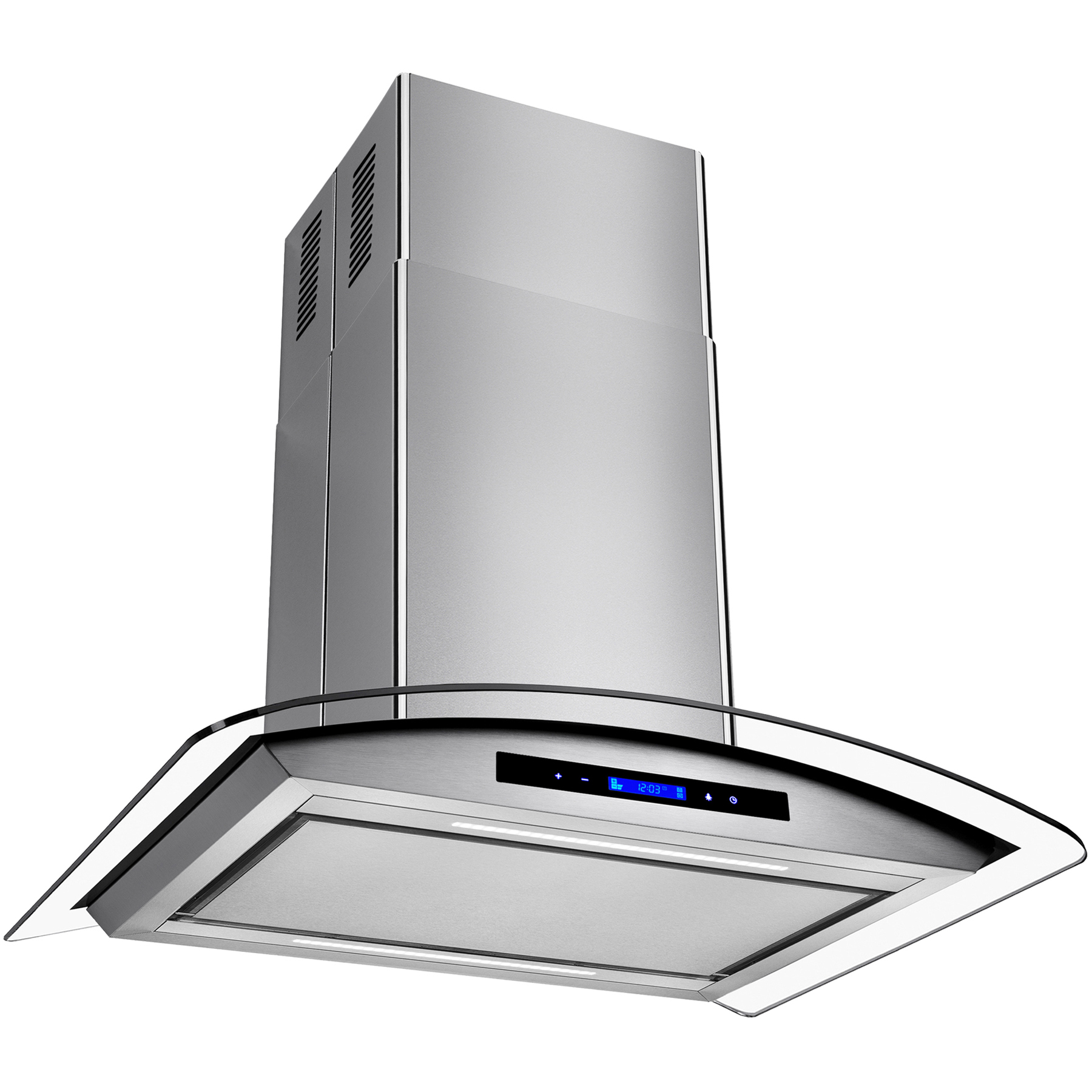 "Image of AKDY 30"" Euro Style Stainless Steel Island Mount Range Hood Kitchen Low Noise with Touch Control Panel"