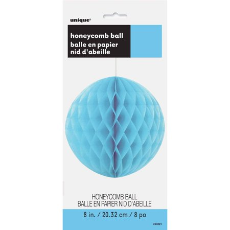 Tissue Paper Honeycomb Ball, 8 in, Light Blue, 1ct