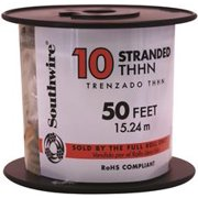 Southwire Simpull Thhn, 10 Gauge Thhn Stranded Wire, Black, 50 Ft. Per Roll