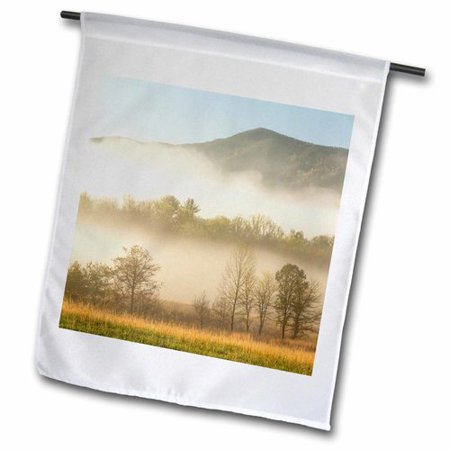 3dRose Foggy Morning, Cades Cove, Great Smoky Mountains Np, Tennessee Polyester 1'6'' x 1' Garden Flag ()