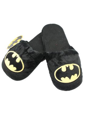 3c89a221866a Product Image DC Comics  Batman Black Colored Plush Slippers w Bat Symbol  ...