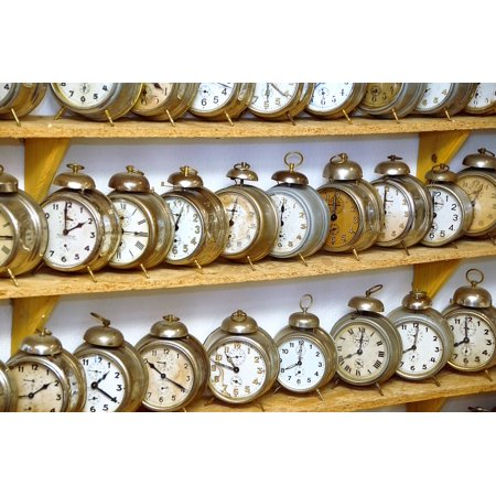 Canvas Print An Antique Museum A Collection Of Clock Alarm Clock Stretched Canvas 10 x 14