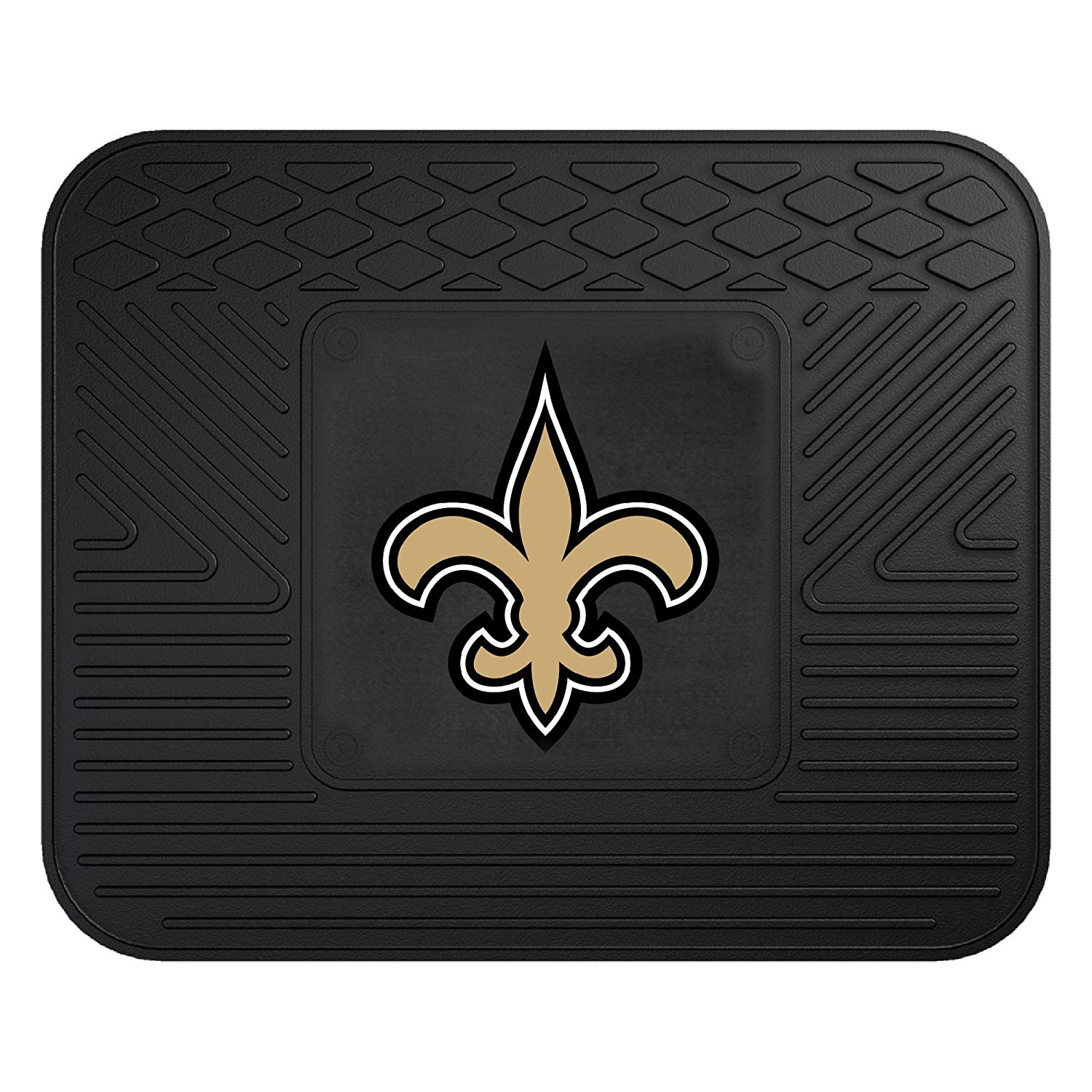 NFL New Orleans Saints Vinyl Utility Mat, Deep pockets catch and hold dirt and water as the ribs scrap and clean the bottoms of shoes By Fanmats