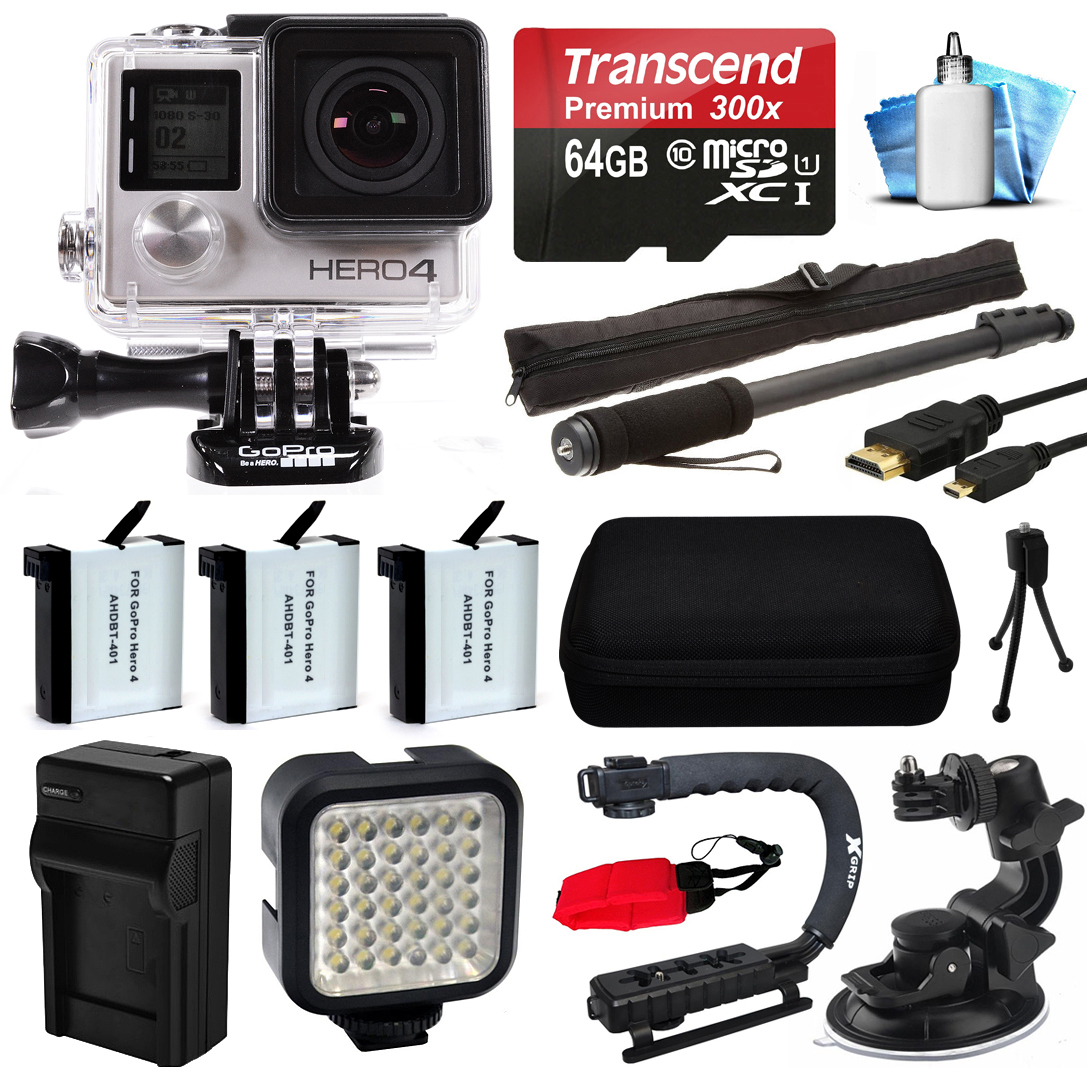 GoPro HERO4 Hero 4 Black Edition 4K Action Camera Camcord...