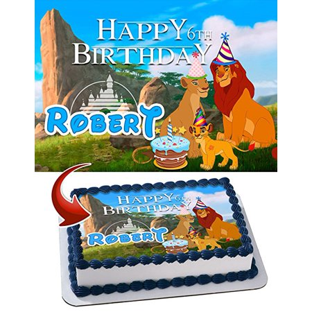 Terrific The Lion King Cake Birthday Cake Personalized Cake Toppers Edible Funny Birthday Cards Online Fluifree Goldxyz