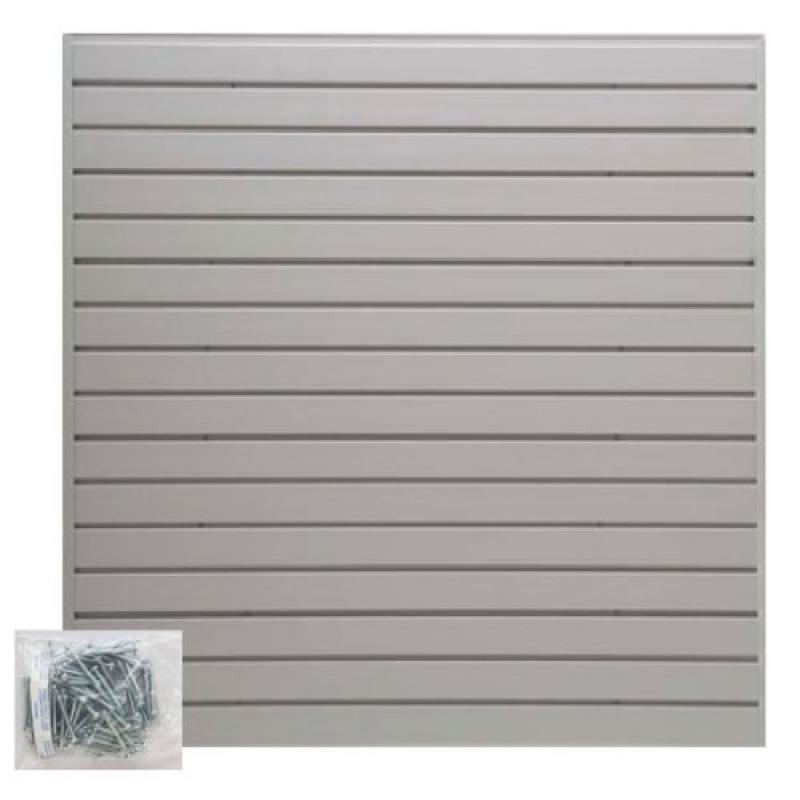 Jifram Extrusions 05000147 Easy Living Easy Wall 4 ft.  X 4 ft.  or 8 ft.  X 2 ft.  Add Your Own Accessories Light Gray