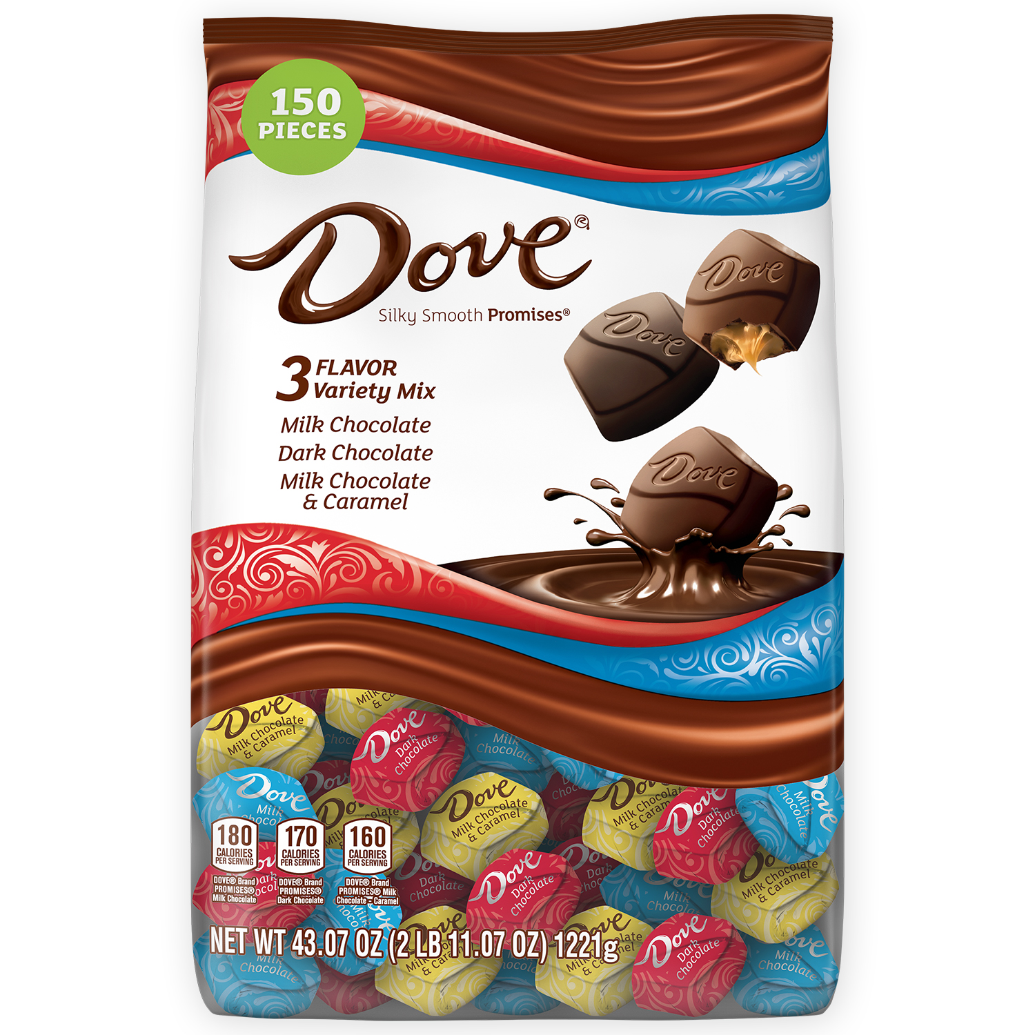 DOVE PROMISES Chocolate Candy Variety Mix, 43.07-Ounce 153-Piece Bag
