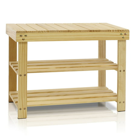 Furinno Fncj 33019 Pine Solid Wood Shoe Rack
