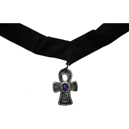 - Velvet Cross Choker with Purple Gem Adult Halloween Accessory