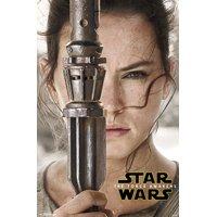 "Trends International Star Wars The Force Awakens Rey Portrait Wall Poster 22.375"" x 34"""