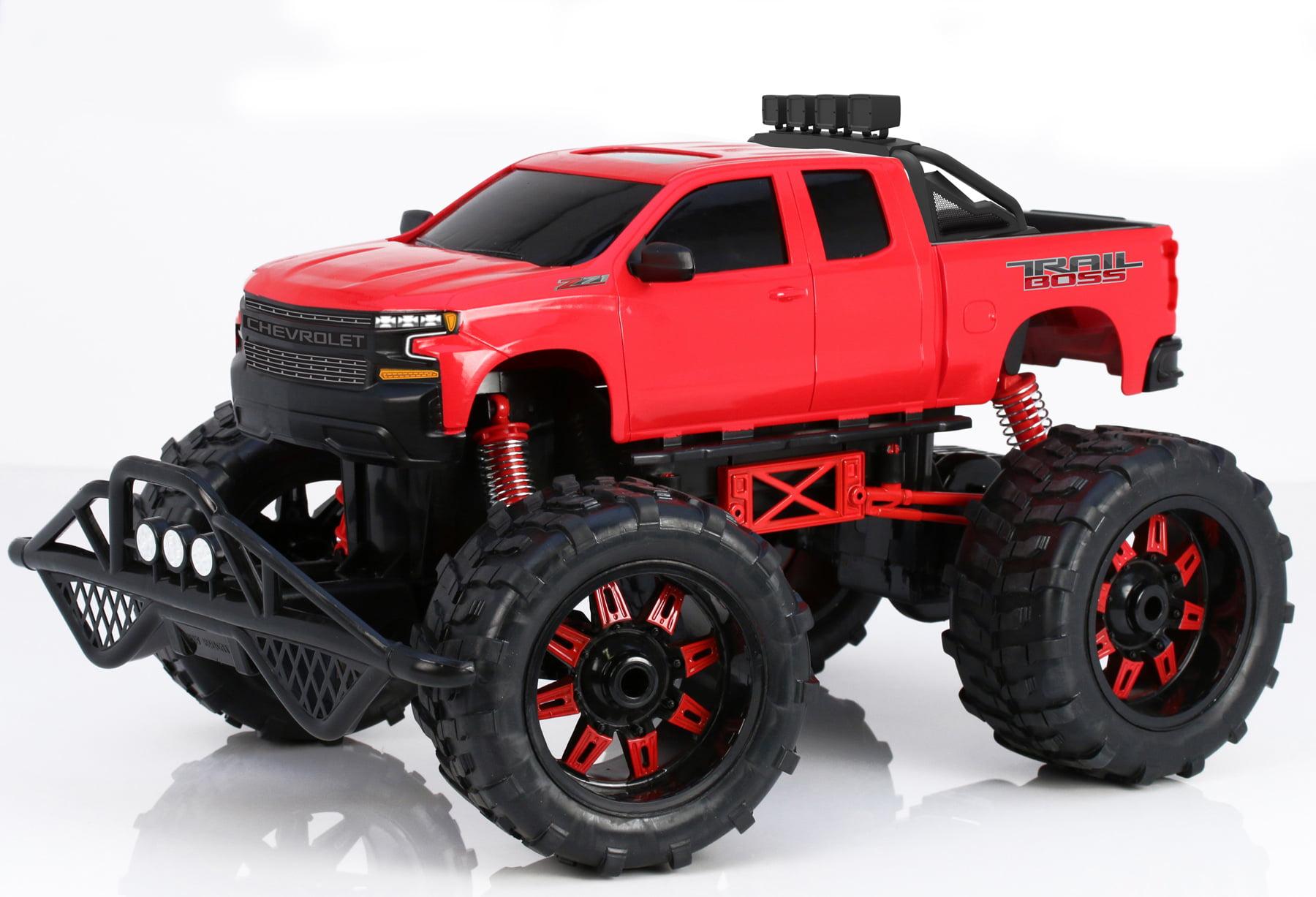 New Bright RC 1:10 Scale Trail Boss Silverado Radio Control Truck- Red by New Bright Industrial Co., Ltd.