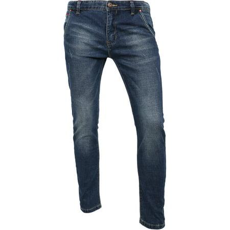 Mens Designer Jeans Stretch Denim Skinny Slim Fit Pants (Authentic Designer Jeans)
