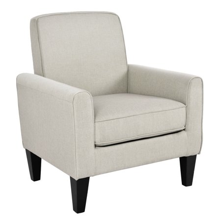 Costway Modern Accent Arm Chair Single Sofa Linen Wooden Leisure Living Room Furniture Casual Living Room Chairs