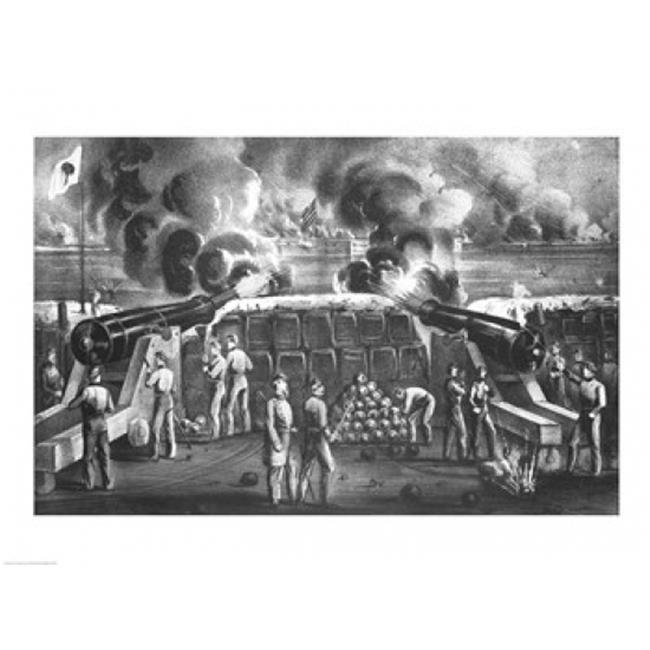 Posterazzi BALBAL111639LARGE Bombardment of Fort Sumter Poster Print - 36 x 24 in. - Large - image 1 of 1