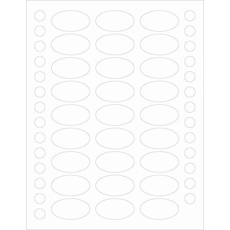 Jersey Top Love Label - 81 Clear Oval Label Protectors for Essential Oil Bottle Labels Plus 81 Top Stickers By Rivertree Life