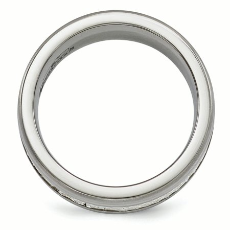 Edward Mirell Titanium&Sterling Silver Brushed&Polished 9mm Ring Size 11.5 - image 1 of 4