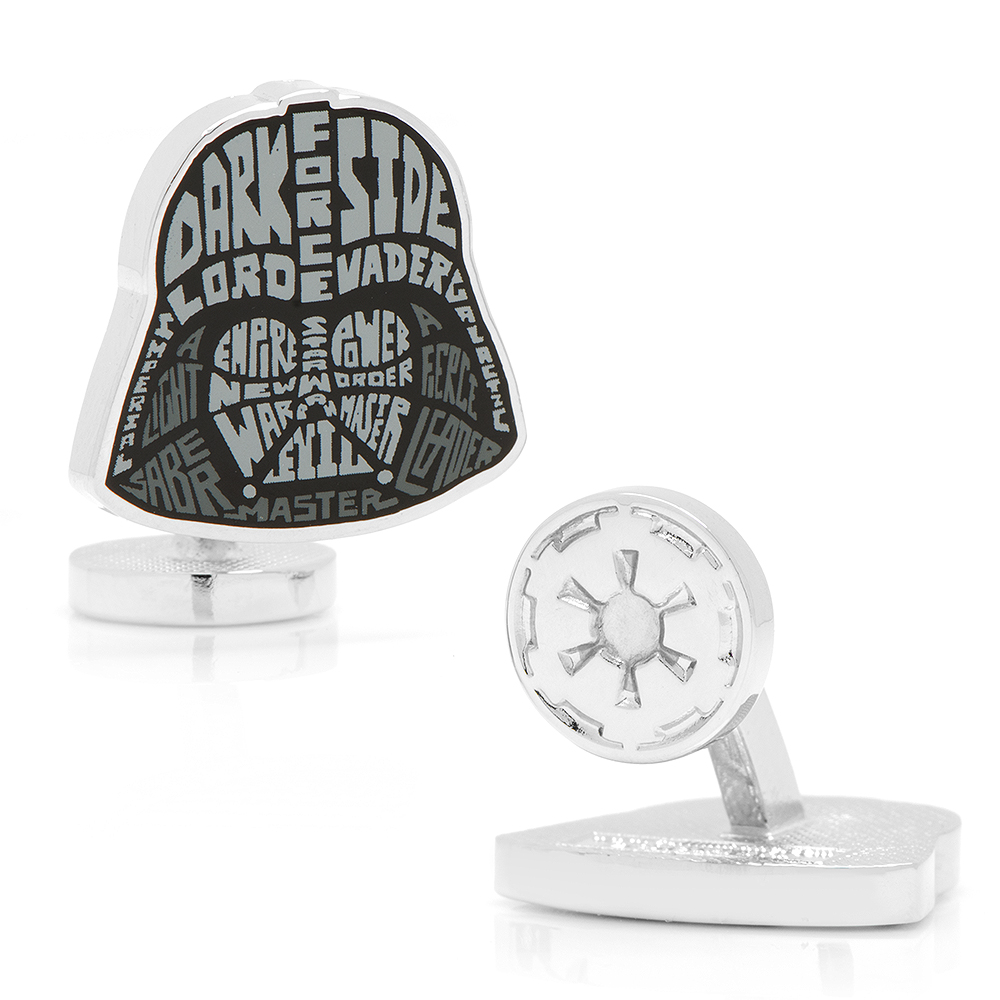 Darth Vader Typography Cufflinks
