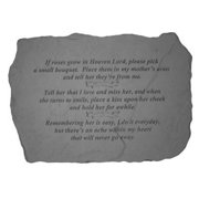 Kay Berry 65320 If Roses Grow in Heaven Memorial Stone