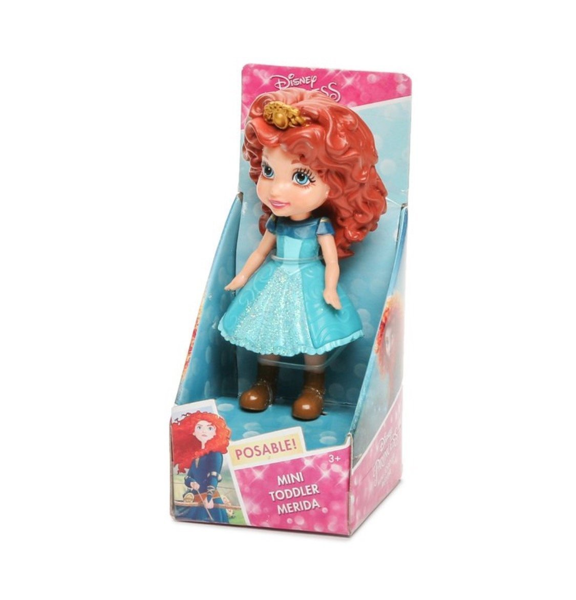 Disney My First Princess Mini Toddler Doll ~ Merida, 3 Mini Toddler Merida Doll By Jakks