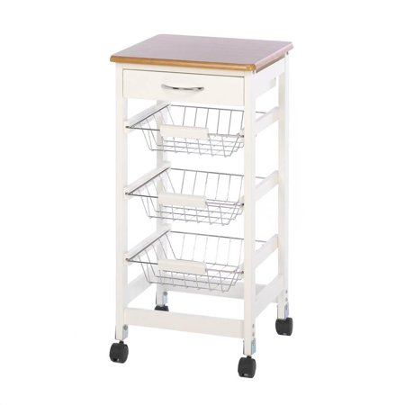 Table Storage Carts (Kitchen Cart Organizer, Trolley Storage Utility Table Rolling Mobile Kitchen)