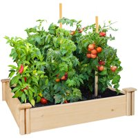 Deals on Greenes Fence 42-inch x 42-inch x 5.5-in Cedar Raised Garden Bed